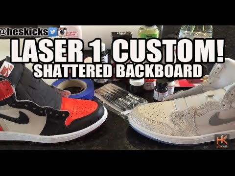 fc1eae5ee5d Custom  Shattered Backboard  Air Jordan 1 Laser Tutorial For Beginners! (w Time  Lapse) - YouTube