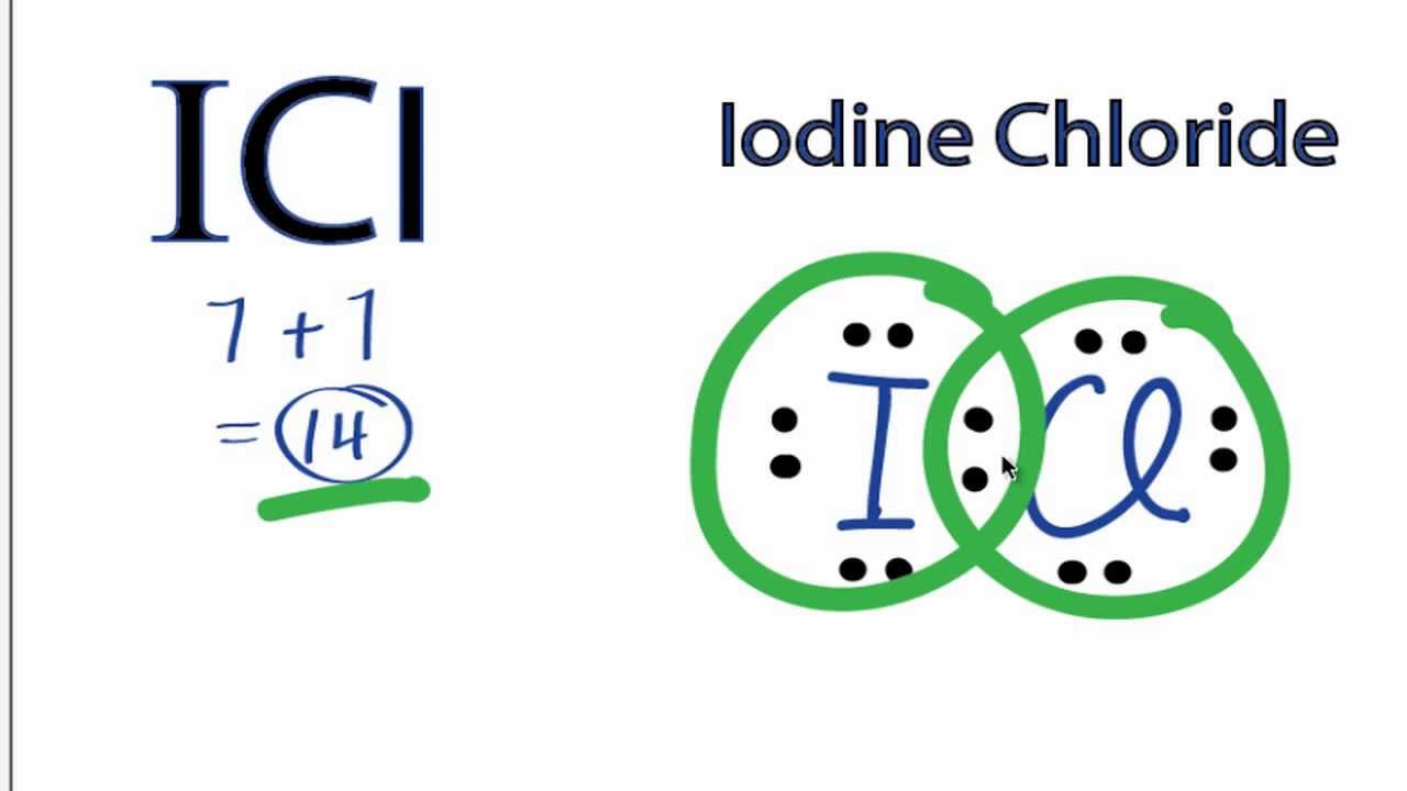 medium resolution of icl lewis structure how to draw the lewis structure for the iodine chloride