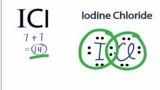 icl lewis structure how to draw the lewis structure for the iodine chloride