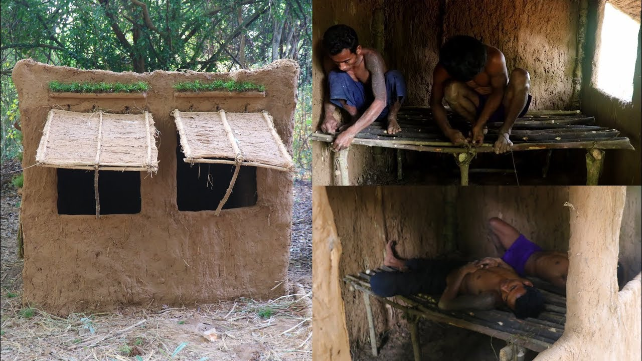 Primitive Tool : Make Bed for Mud House
