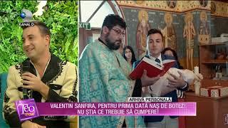 Teo Show - Valentin Sanfira, prentru prima data nas de botez! Nu stia ce trebuie sa cumpere!