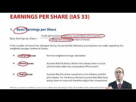 ACCA P2 Earnings per share (IAS 33)