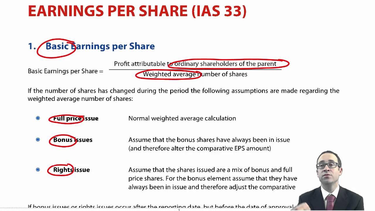 Stock options ias