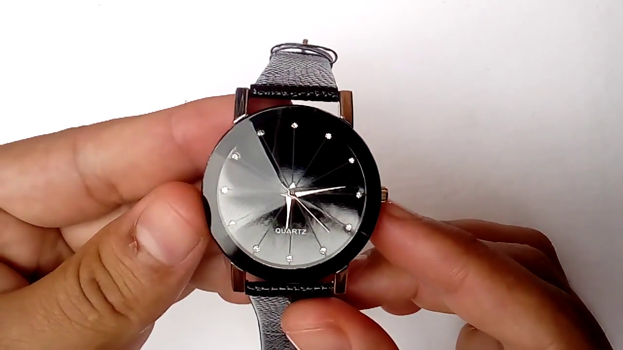 05e80f1420a Relógio De Pulso Importado Masculino Barato Quartz Casual Pulseira Couro  Preta