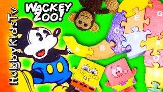 Wacky Hobby Zoo SURPRISES! Spongebob Choco Egg Patrick Mickey by HobbyKidsTV