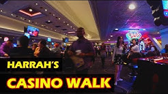 Walking through the Harrah's Hotel & Casino Las Vegas in 4K HD - November 2017
