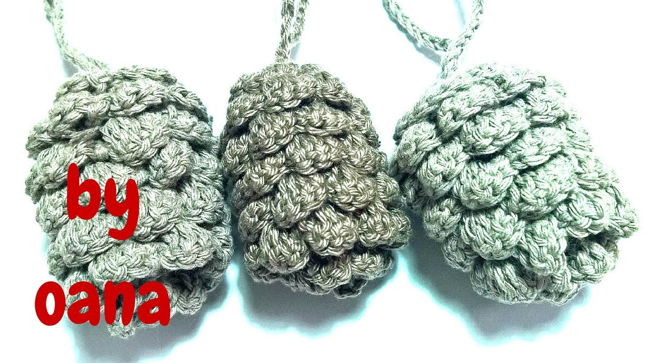 Crochet pine cone youtube bankloansurffo Images