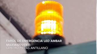 Farol de Emergencia Ambar LED MAXM42705Y