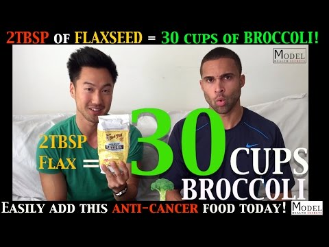 2 TBSP of Flaxseed = 30 Cups of Broccoli! Easily Add this ANTI-CANCER Food Today!
