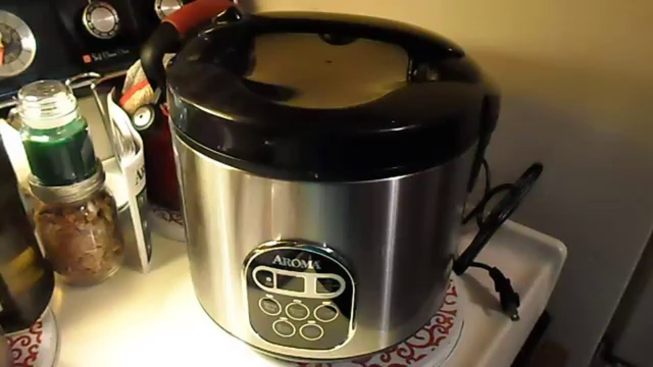 Aroma 3 in 1 rice cooker, steamer, & slow cooker - YouTube