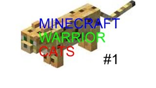 Lets play Minecraft Warrior cats MEOW! part 1 LAN SERVER