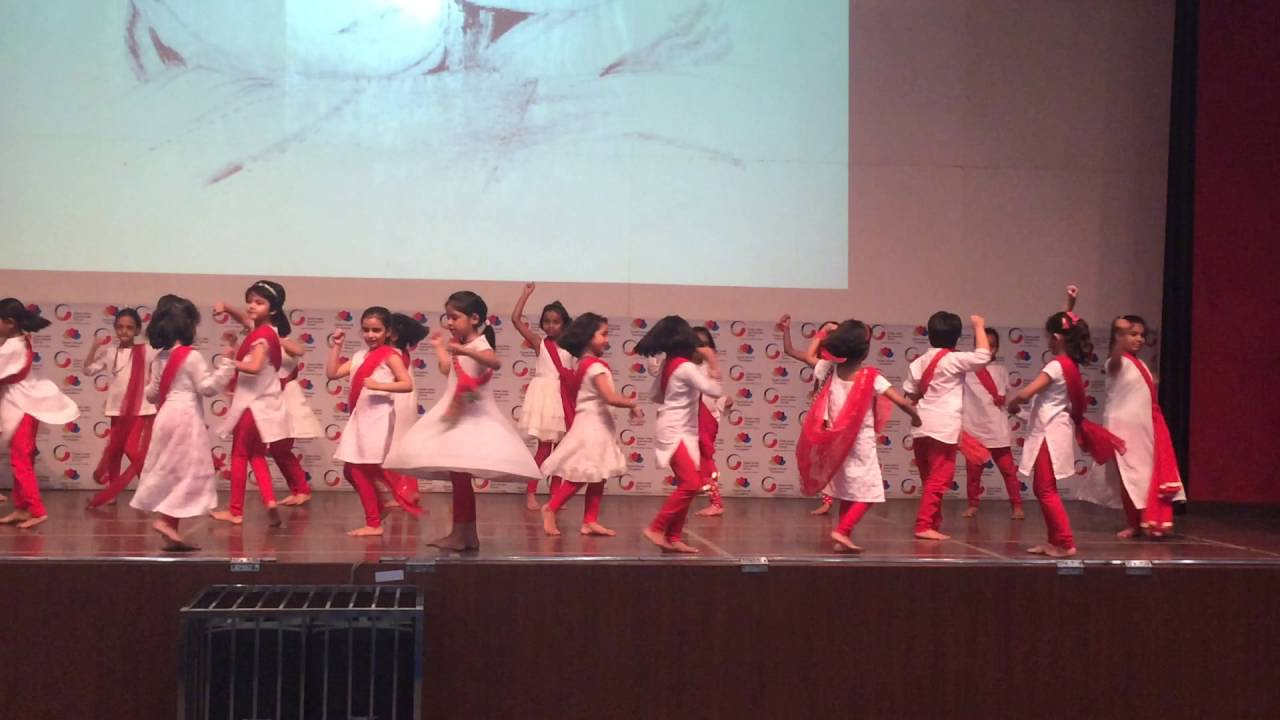 Children performing during Mother's Day celebrations at GIIS Noida