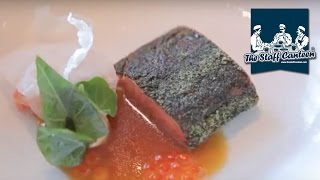 Michelin star Chef Graeme Cheevers creates a recipe of Loch Etive trout with smoked mussels