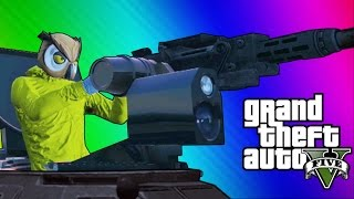 Repeat youtube video GTA 5 Online Funny Moments - Paper Bag Man, Valkyrie Chopper, Night Owl Cave! (GTA 5 Heists Update)