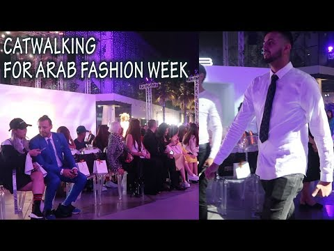 CAT WALKING FOR ARAB FASHION WEEK!!