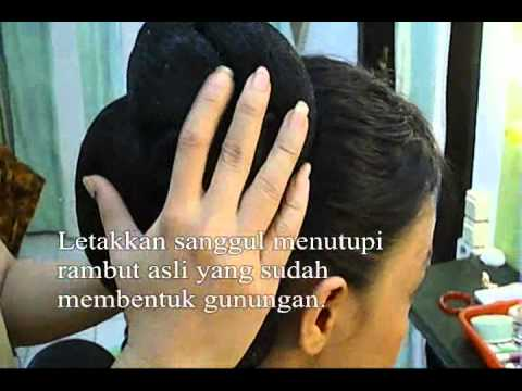 Sanggul Memasang Sanggul Basic Video Tutorial Youtube