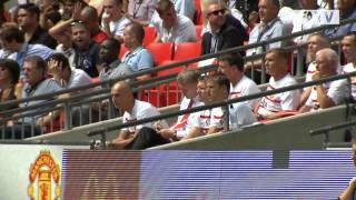 Manchester United Vs Wigan Athletic 2-0 Exclusive Pitchside Highlights, FA Community Shield 2013
