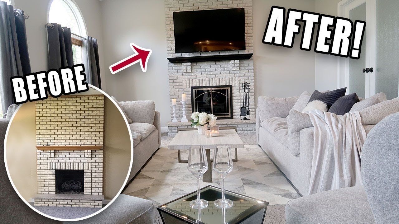 Diy Family Room Makeover Stunning Before After Youtube
