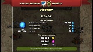 OneHive vs Crystal Warrior (my clan) - Final Results Update - Clash Of Clans