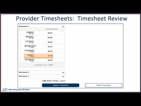 Approving Timesheets