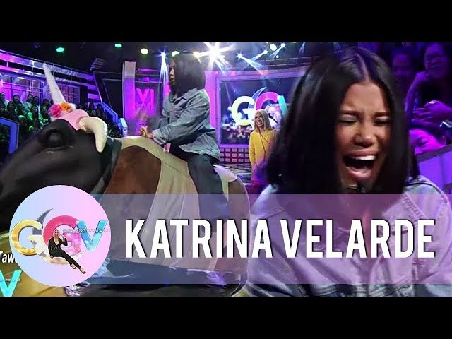 GGV: Katrina Velarde continues her birit challenge while riding a mechanical bull