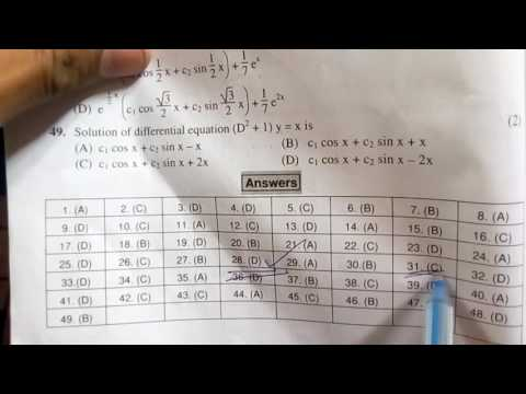 M3 MCQ SOLVING trick #engineering mathematics online examination trick