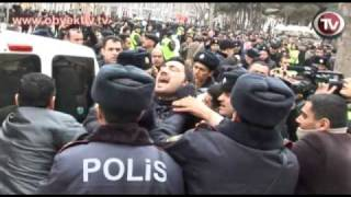 OPPOSITIONAL MUSAVAT PARTY HOLDS PROTESTS IN CENTRAL BAKU