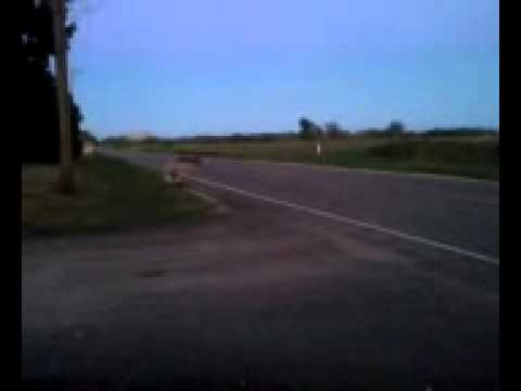 Wrecking an RC car into a pole full speed