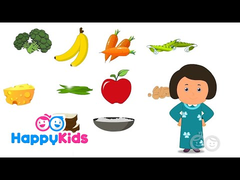 Healthy Food - Learning Songs Collection For Kids And Children With Lyrics | Rhyme time | Happy Kids