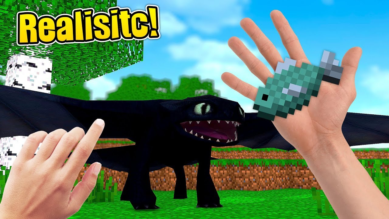 how to make a realistic dragon in minecraft