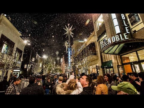 INDIAN CELEBRATING CHRISTMAS IN AMERICA - SNOWFALL IN LOS ANGELES