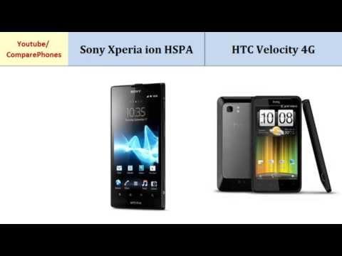 Sony Xperia ion HSPA VS HTC Velocity 4G, all specs