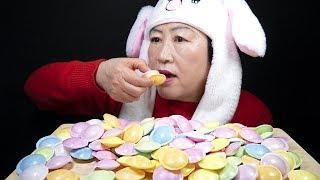 새콤달콤한 우주캔디????리얼사운드 먹방???? /텐션 폭발 주의???? | ASMR Flying Saucer Candy Eating Sounds Mukbang
