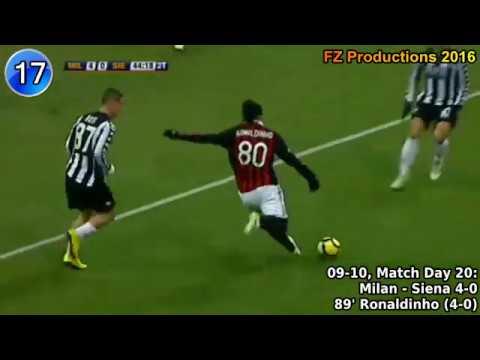 Ronaldinho - 20 goals in Serie A (Milan 2008-2010)