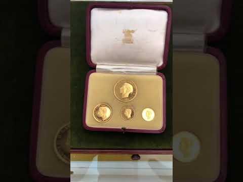 1937 George VI gold sovereign proof set