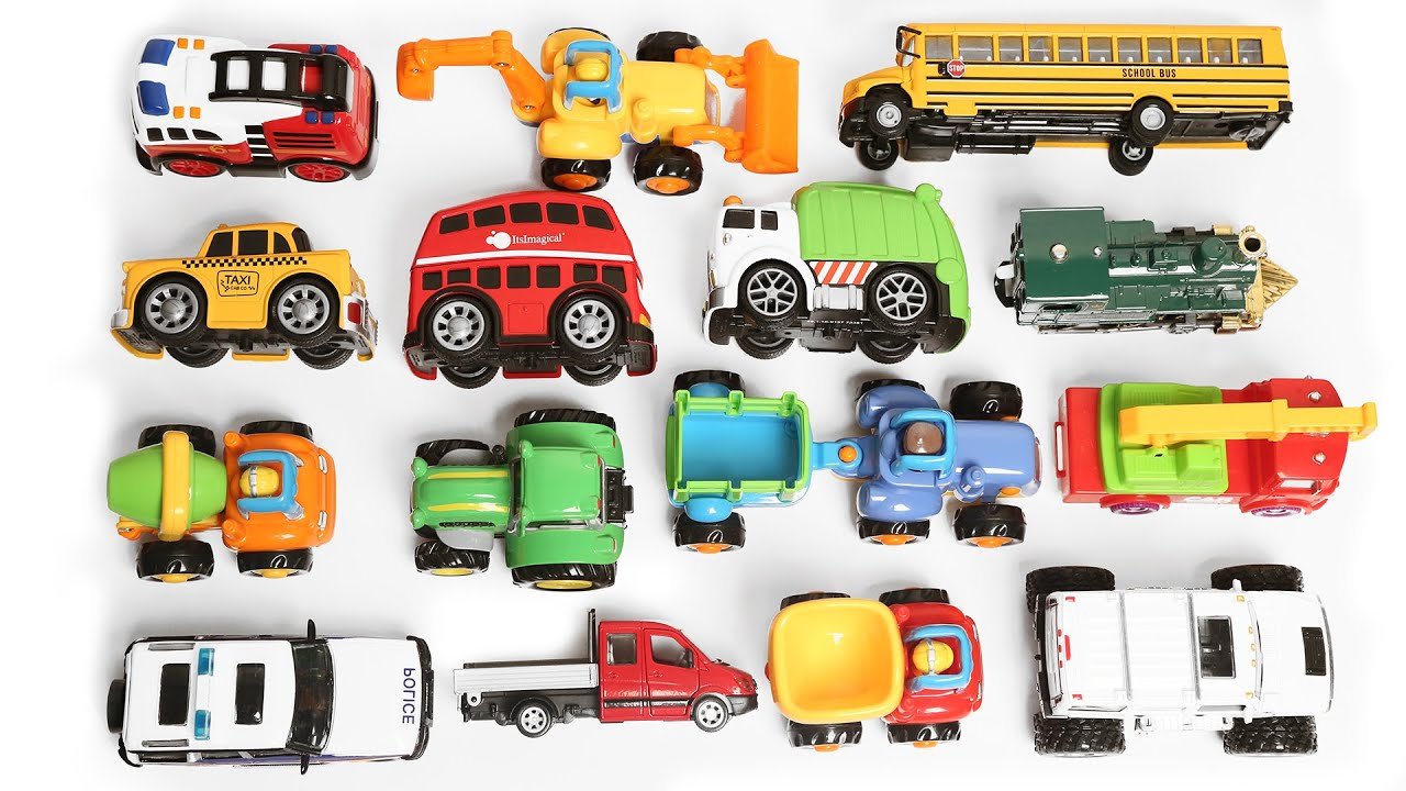 Learning Vehicles Names And Sounds For Kids With Toys Cars