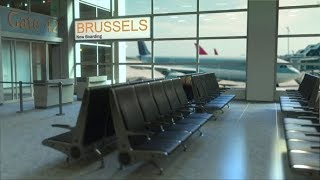 Brussels Flight Boarding in the Airport Travelling To Belgium | Videohive Project Templates