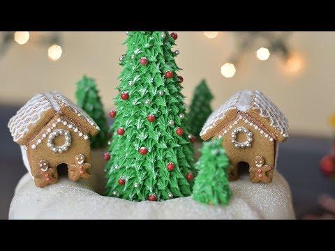 How to Make CHRISTMAS VILLAGE BUNDT CAKE by HANIELA'S