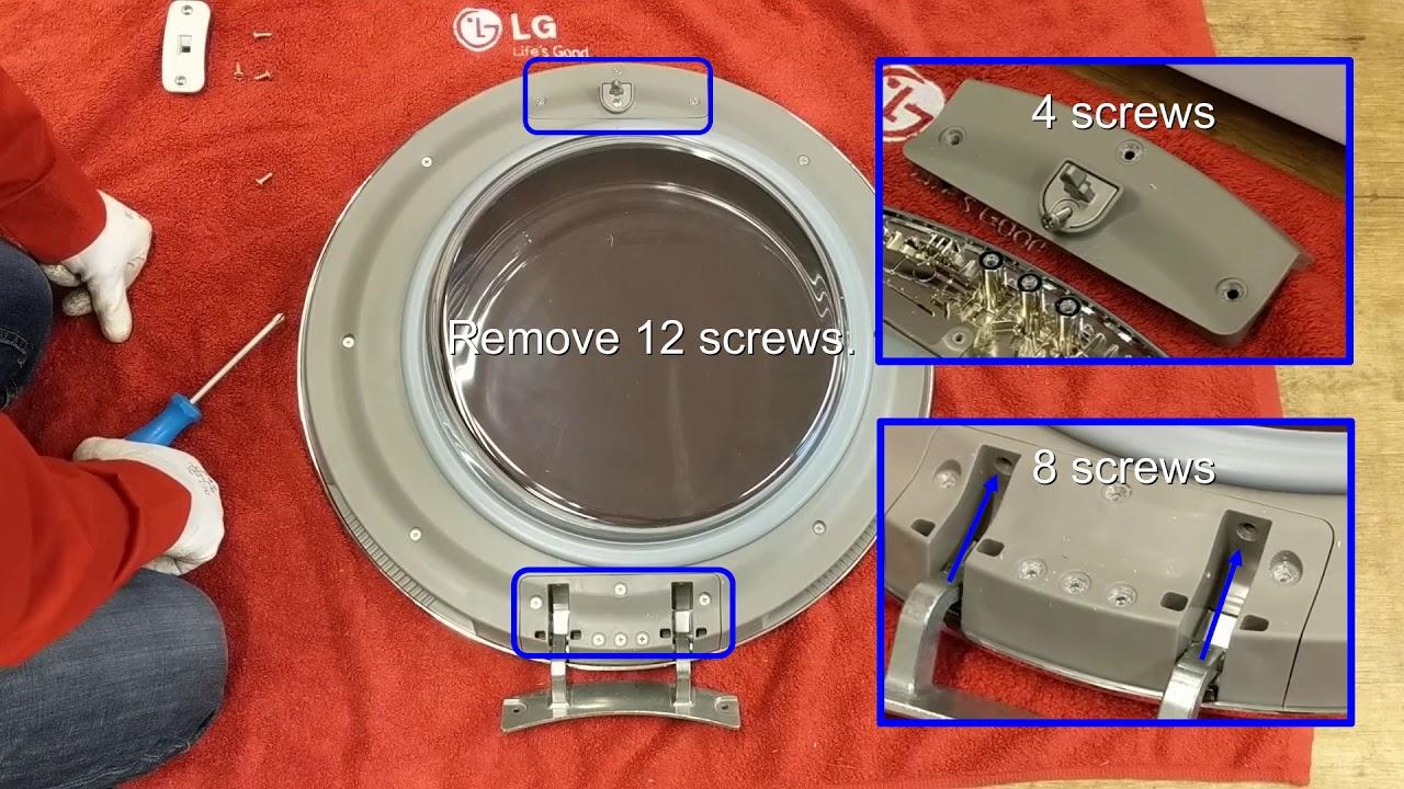 Lg Tumble Dryer How To Reverse The Lg Tumble Dryer Door Youtube