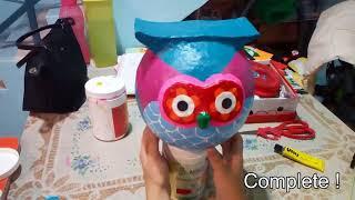 paper mache owl sandra