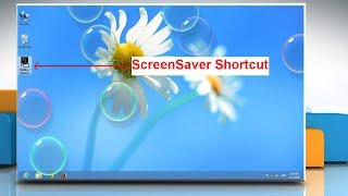 create a shortcut icon to start the screensaver in windows® 8 pc