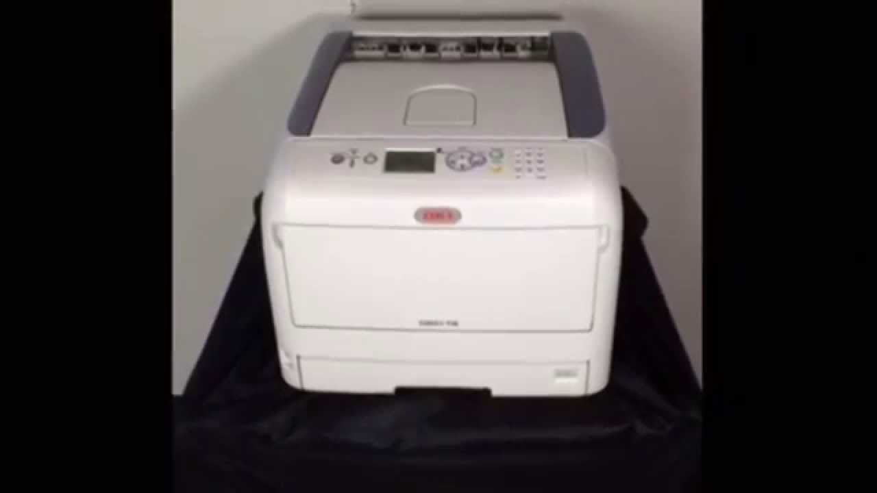 Oki C831 Ts Cmyk Led Laser Transfer Printer Youtube