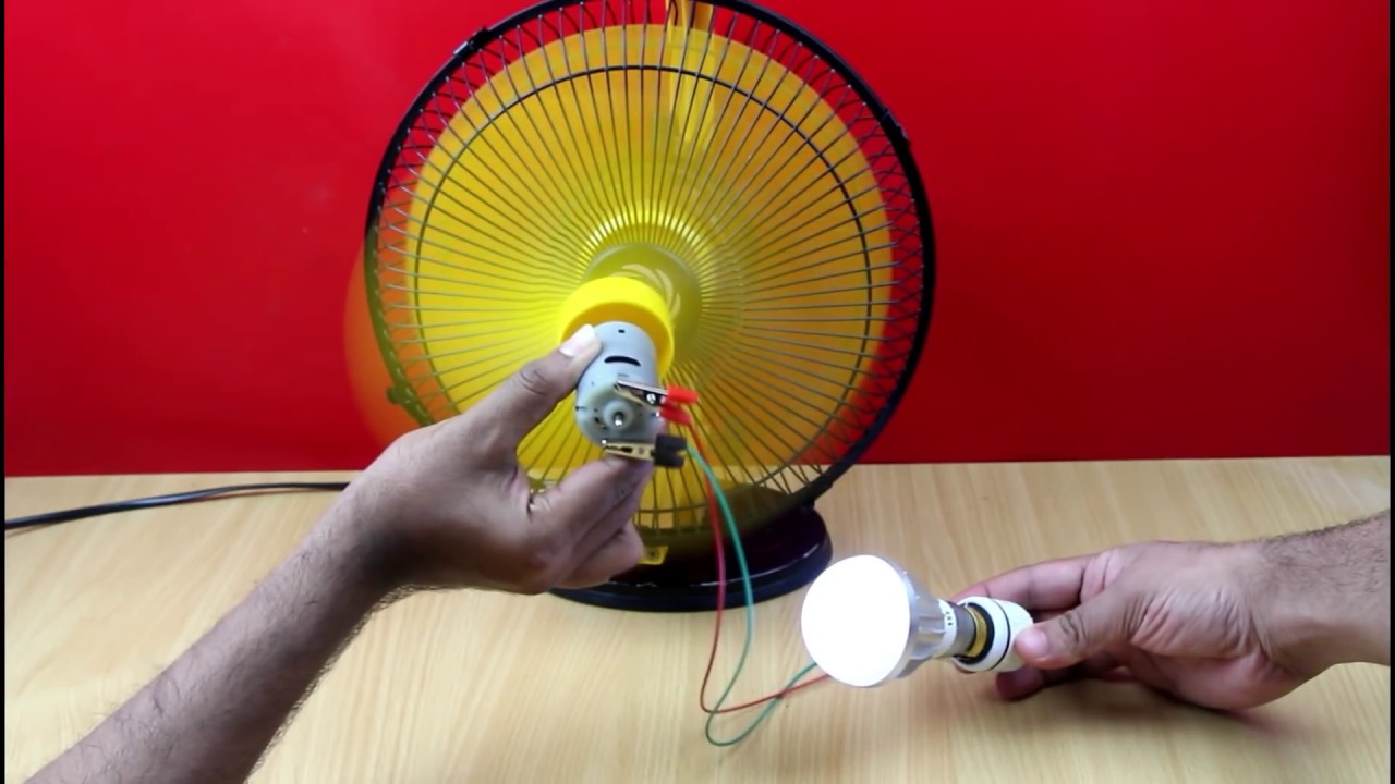 How To Make Electric Generator using DC Motor – School Science
