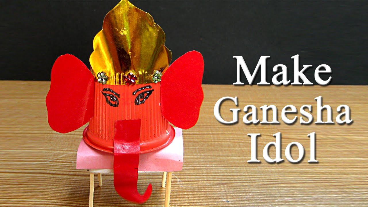 Ganesh puja craft idea make ganesh idol from paper cup for ganesh puja craft idea make ganesh idol from paper cup for ganesh puja 11 youtube jeuxipadfo Image collections