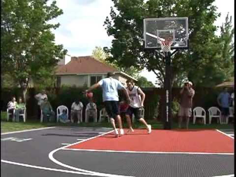 utah jazz plays on a snapsports backyard basketball court youtube