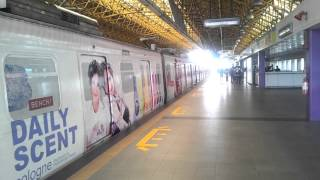 Manila, departing metro train