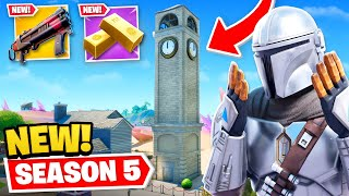EVERYTHING *NEW* in Fortnite SEASON 5! (Tilted Towers, Weapons + MORE)