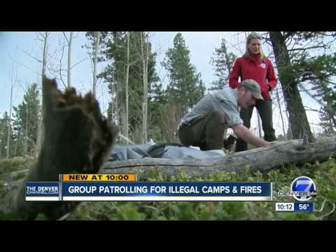 Group patrolling for illegal camps and fires
