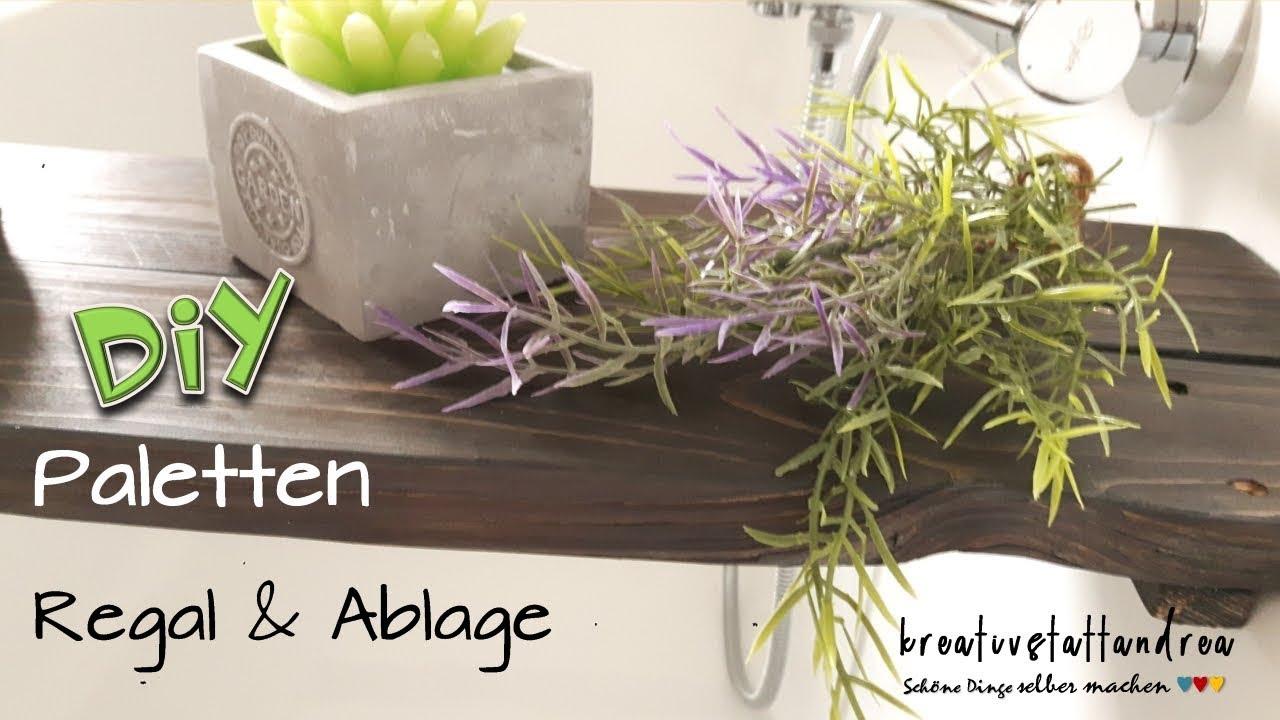 DIY Paletten - Regal & Ablage + Maritime Bilderrahmen im Shabby Chic