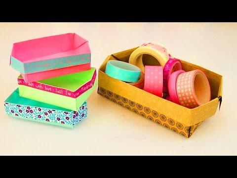 DIY Origami Kisten falten | super einfach mit Washitape | Deko & Aufbewahrung | Geschenkbox